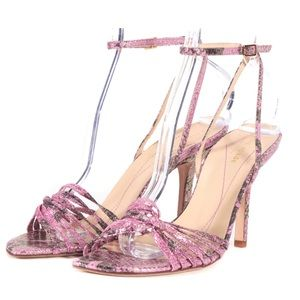 Kate Spade Pink/Gold Snakeskin Sandals